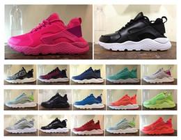Wholesale Air Cushion Lightweight Big Mesh Surface Huarache Ultra Run Mesh Breathe Running Shoes For Men And Women s Huaraches Running Sneakers