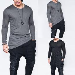Fashion men long sleeved t-shirt Trend fashion t-shirt dress Justin Bieber hip hop rock elastic t-shirt men's fitness Harajuku free delivery