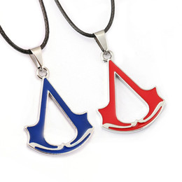 2017 New Arrival Assassin's Creed Logo Metal Necklace Fashion Unisex Pendant Popular Hot Good Collection Cosplay Gift
