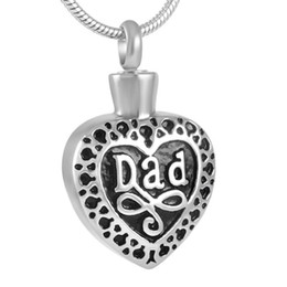 IJD8374 Unique Design Stainless Steel Cremation Jewelry Memory For Dad With Beautiful Necklace Keep Love One Close to Your Heart