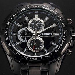 Quartz Watch Men's Three Men Business Men's Six Fashion Belt Quartz Movement Men's Watch Shockproof Strip Geneva Watch
