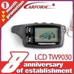 Compra Online Sistema de alarma a distancia un coche-Regulador alejado de dos vías del LCD del envío al por mayor-Libre para el sistema bidireccional del sistema de alarma del coche de Tomahawk TW9030 Certificación de la venta al por mayor de la fábrica con CE