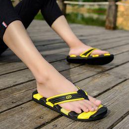Plardin 2017 Summer Casual men's Flip Flops Flat Sandals Shoes For men Striped Flip Flops Beach Sandals Shoes Man Outside Shoes