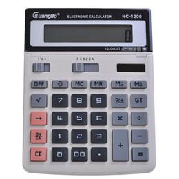 Grossiste- Calculatrice Guangbo OfficeSchool Supplies Mathématiques solaire ou de la batterie 145 * 200 * 60mm Gray Fast Calculadora NC-1200 à partir de bureau de la calculatrice fabricateur