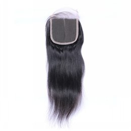 Wholesale the special link for customer best quality human hair peruvian straight free part closure inch