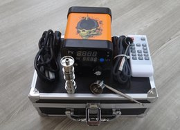 Wholesale glass water pipes bongs e nail kits electronic vaporizer dab e nail heater coils temperature control box for enail dnail