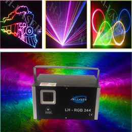 Analog 45Kpps 2W RGB full color Animation laser light ILDA DMX 512 stage laser light Christmas new year laser show