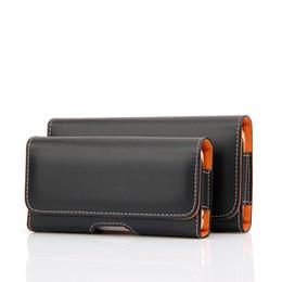 Clips de bolsas en Línea-Universal Phone Bag Funda para el iphone para el patrón liso de Samsung y el patrón de Lichee PU Cinturón de cuero Bolsa bolsa Funda de la cartera de la pistolera del clip