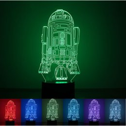 Wholesale 3D Light LED Battleship USB Power Supply Table Lamp Push Button Bedroom Decorative Night Lights Color Changing New Arrival rm