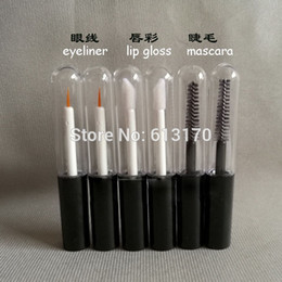 4ml Mascara tubes Clear Empty revitalash Eyelash Bottles lip gloss tube Round bottom Black cap DIY make up cosmetic packing