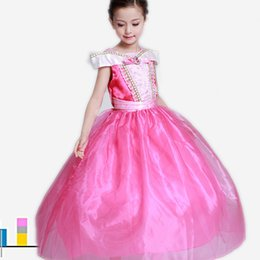 Wholesale Sleeping Beauty Dresses For Girls - Fancy Christmas Costume Kids Role-Play Party Gown Designer Sleeping Beauty Princess Dress For Girl Fairy Kids Children Clothing Birthday Gif