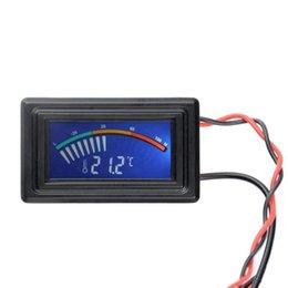 Измеритель температуры панели Онлайн-Цифровой термометр температуры LCD Meter Манометр PC автомобиля Mod C / F Molex Panel Mount