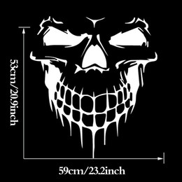 2017 Hot Sale Cool Graphics Skull Hood Jdm Decal Vinyl Large Graphic Sticker Car Stying Art Decals