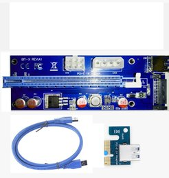 New 60CM PCI PCIE Express PCI-E 1X to 16X Riser Card Extender 6pin Big 4Pin IDE Power Adaptor USB 3.0 Cable for BTC Miner In Stock