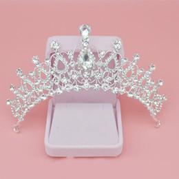 Cheap Bridal Tiaras Crystal Crown Wedding Accessories Baroque Queen Crowns Bridal Jewelrys Crystal Hair Accessories Girls Birthday Crowns