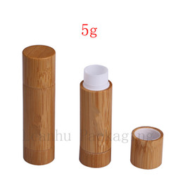Wholesale Makeup bamboo design empty lip gross container lipstick tube DIY cosmetic containers lip balm tubes bamboo lip stick tubes