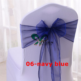 Nice Looking Organza Chair Sash \ Chair Bow For Spandex Wedding Chair Cover