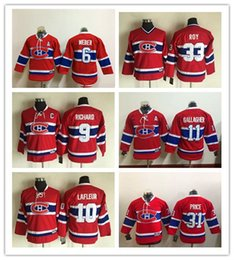 Wholesale 2017 Kids Hockey Jerseys Canadiens Shea Weber Youth Maurice Richard Guy Lafleur Patrick Roy Price GALLAGHER Pacioretty