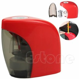 Wholesale Two colors Automatic Home School Office Desktop Electric Touch Switch Pencil Sharpener New