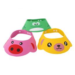 Acheter en ligne Cheveux amicale-Vente en gros- 2016 NOUVEAU Kids Baby Bath Visor Hat Enfants réglables bébé bébé bouchon de douche bouchon de lavage splashguard imperméable sunhat