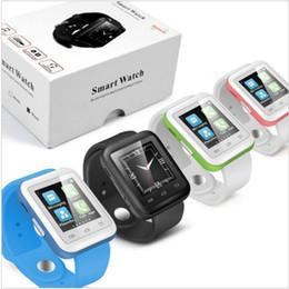 Nouvelle u8 bluetooth montre-bracelet à puce en Ligne-10pcs 2017 nouvelle montre bluetooth intelligente u9 reloj intelligent montre-bracelet portable pour Apple iPhone Samsung Android pk u8 dz09