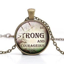 Quotes Pendant Necklaces Well-know Saying Christian Glass Cabochon Dome Alloy Easter Thanksgiving Day Gift Women Charm Jewelry Wholesale