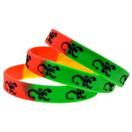 Wholesale 100PCS Lot Rock Band Scorpions Silicone Rubber Wristband Music Bracelet Women and Men Gift Jewelry
