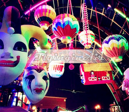 2m Decorative Inflatable Clown Head Inflatable Mask for Halloween Clown Party