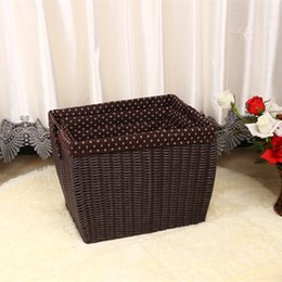 Wholesale Receive a box large store content box the cane makes up dirty clothes receive basket toys hand made by rural laundry basket