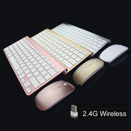 Wholesale High Quality G Wireless Keyboard Mouse Kit Set For DESKTOP PC Laptop ultra thins wireless computer accessories for Android phone and pad
