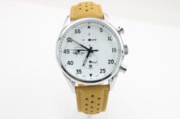 Wholesale 2017 Reloj blanco de la correa de cuero de la cara del tamaño de los relojes m m de la venta caliente libre shipping466