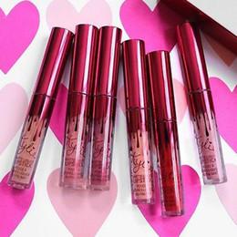 Wholesale 2017 hot sale Kylie Jenner Lipkit Valentine Edition beautiful a set Lipstick High Quality Valentine Gift