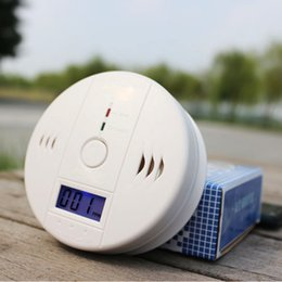 Wholesale Battery Operated Co Carbon Monoxide Detector Poisoning Gas Fire Warning Safe Alarm Sensor LCD Display with Clock Voice Warning