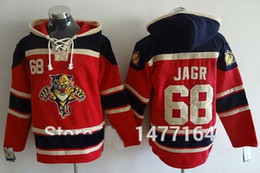 2016 New, Florida Panthers #68 Jaromir Jagr Ice Hockey Hoodie Jersey Red Stitched Mens Hoodies Sweatshirt S-3XL