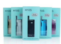 E Cigs Preheating H10S Vape Pen with OLED Screen 1ml CE3 Clearomizer Cartridge Mini Vaporizer Box Mod VV 650mAh 10w Battery Starter Kits