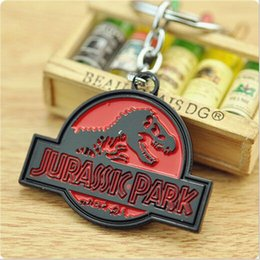 Wholesale Hottest Euro American Movie Jurassic Park Key Chain High Quality Metal Keychains Key Rings Antique Silver And Bronze Size cm