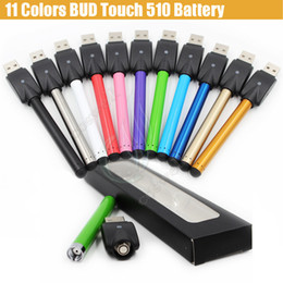 Top Bud Touch Colorful Battery 280mah 510 O Pen CE3 Cartridges vape wax Oil Tank mini USB charger Blister Packing e cig cigarettes vapor DHL