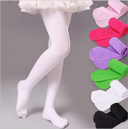 Wholesale Girls Velour Leggings Candy Colors Pantyhose Ballet Tights Child Skinny Pants Fashion Trousers Kids Casual Pants Tights Baby Clothing H3