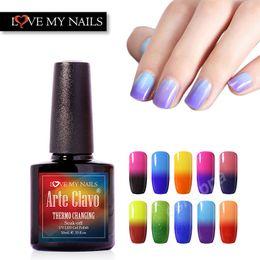 Wholesale UV Gel Polish Temperature Gel Arte Clavo Nail Art Colors Changing Base Top Coat Gel Nail Polish