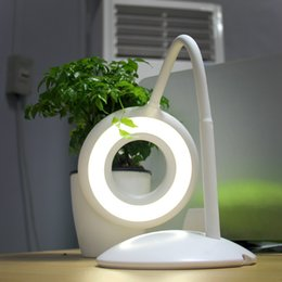 Stylish Adjustable USB Charger LED Table Lamps Table Lamps Monthly Aperture Eye Protection Shade Touch Switch Dimming Student Lights