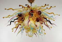 Wholesale Mouth Blown Borosilicate Antique Murano Glass Art Indoor Decor Chihuly Style Italian Designer Lighting Led Pendant Lamps