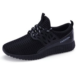 2017 New breathable flying weave men's casual shoes fashion Low help men flats shoes Europe station tide brand soft bottom loafers shoes