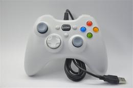 Descuento computadoras portátiles para la venta Xbox 360 Controlador Gamepad USB con cable Joypad XBOX360 PC joystick Negro Xbox360 controladores de juego para ordenador portátil PC Venta caliente