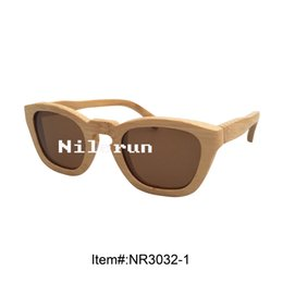 fashionable brown polarizing handmade natural bamboo sunglasses