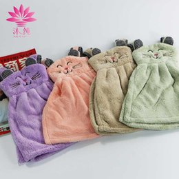 muchun Brand Tiger Cat Hand Chinlon 80% Natural Cotton Towel Soft Cute Washrag Fresh Style Home Hand Towel