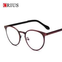 Купить Онлайн Теги кошки-Оптовые-женские очки рамка для мужчин оптический оправа очки oculos de grau кошка для глаз марки Vintage metal round Brand design new