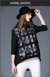 high quality stripe t shirt women black plus size blouse chiffon bouffancy harajuku doll collar