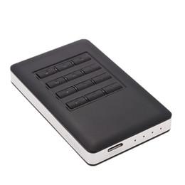 """Una caja portadiscos disco en Línea-Venta al por mayor-Godo 2.5 """"SATA SSD HDD unidad de disco duro a USB 3.0 Contraseña cifrada convertidor adaptador de tarjeta de caja de caja externa Caddy + Cable"""