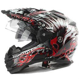 Motocross helmets Electric helmet Half Face helmet Double lens tension helmet ECE authentication