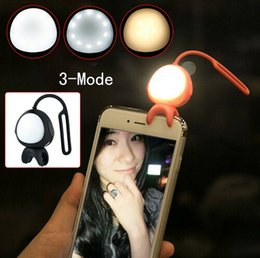 Brand New 2Color USB Rechargeable Silicone Clip Alien Shape Cellphone Selfie Fill Flash Light With 3 Clycle Adjustable Brightness